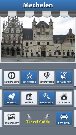 Mechelen Offline Map Travel Guide domestic services mechelen
