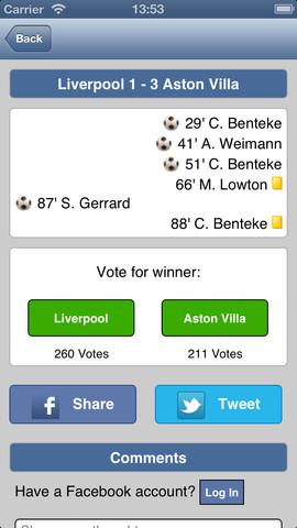 Live Scores for Aston Villa