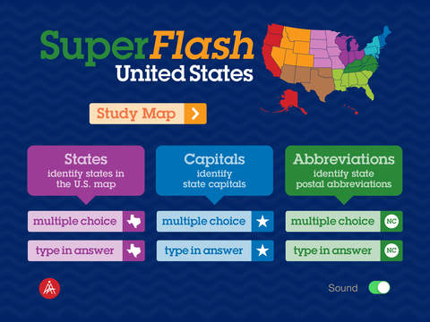 SuperFlash United States - States, Capitals & Abbreviations baltic states