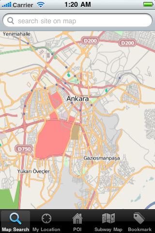 Ankara Map ankara
