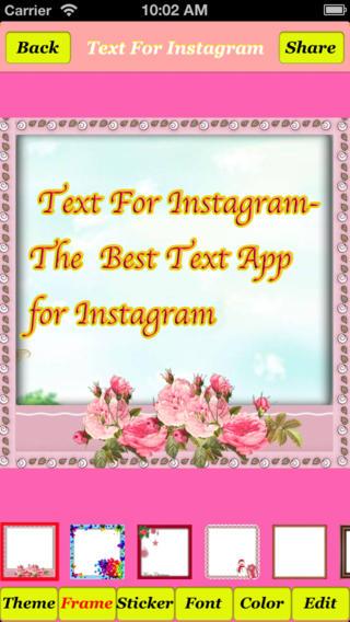 Publisher s description text for instagram free 1 0