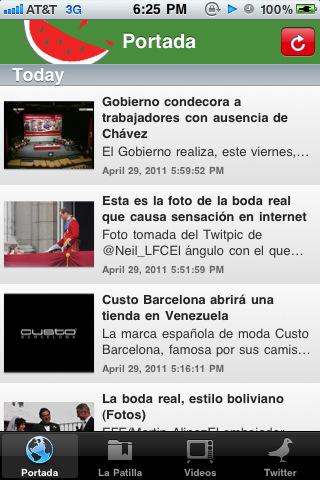 La patilla app for ipad iphone news app by 7 moose for La patilla nacionales