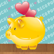 """Simple and fast! """"POCHI-RECO"""" is a free household accounting application that makes it simple to deposit and save money."""