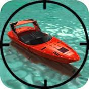 Absolute Adventure in Sea-Shooter Speedboat targeting water missile
