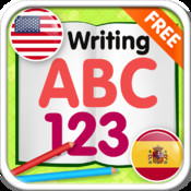 ABC 123 Writing English Spanish Free