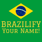 Brazilify your Name for the Football World´s Championship