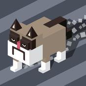 Crossy Tiny Grumpy Cat - hill smashy climb 4x4 smashy