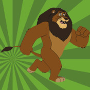 Lion Run Free - Run, escape from zookeeper and return back to madagascar run application