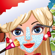 Miss Santa Eye & Nose & Face & Mouth Makeover & Dress up for Christmas Day