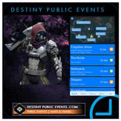 Public Event Timers for Destiny