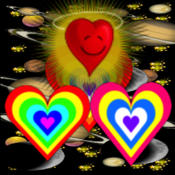 Cosmic Hearts virginmarysacred heart picture