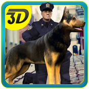 Police Dog Chase Crime Town - Real crime city cop chase 3D Simulator chase law school