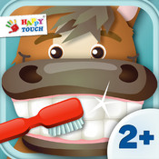 Brush your teeth with funny animals for kids and toddlers (by Happy Touch Apps) Free