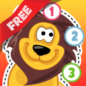 Free Teach me Tracing & Counting with Wild Animals Cartoon: Draw your own giraffe, zebra, hippo and lion and learn all about the safari free email tracing