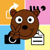 Peace Bear Square Note finance note photo