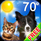 Puppy & Kitty Weather Clock Craze FREE - With Doggy Date and Temperature