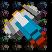 Space Craft in Voxel Invader