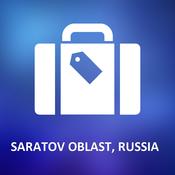 Saratov Oblast, Russia Offline Vector Map