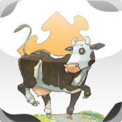 Лизелотта. Пазлы. Рождественская игра-головоломка для детей по серии книг о корове Лизелотте в иллюстрациях А. Штефенсмайера.