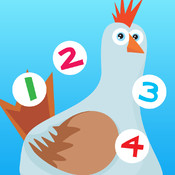 123 Farm counting game for children: Learn to count the numbers 1-10 with pets and animals of the barn