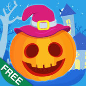 Halloween Activity Bundle for Kids Free : Interactive educational coloring, dots, matching, puzzles game for kids & toddlers