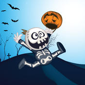 Halloween Run: Fun run game with Pumpkin, Witch and Skeleton for Kids fun run