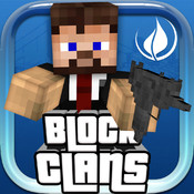 Block Clans - Pixel World Gun in 3D Block Style Survival PE (Pocket Edition) Game clans