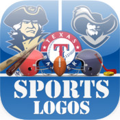 Sports Logos Quiz! (Cool new puzzle trivia word game with awesome images of the popular American University, College & Club Sports baseball, basketball, ice hockey, football & rugby team logo icon guessing. Free!
