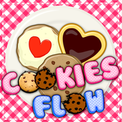 Cookies flow mania - Draw the matching cookies line free brain puzzles game