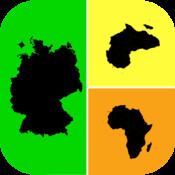Allo! Guess the Country Map Geography Quiz Trivia - What`s the icon in this image quiz icon pop quiz