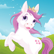 Kids Puzzle Teach me ponies for girls - Learn about pink ponies, cute fairies and princesses