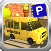 Ice Cream Van Parking Simulator 3D - Be an Expert Ice Cream Delivery Man & Test your Skills