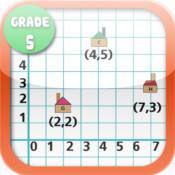 Kids Math-Coordinates Worksheets(Grade 5) free fraction worksheets