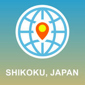 Shikoku, Japan Map - Offline Map, POI, GPS, Directions japan physical map