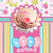 Baby Girl Shower Photo Frames