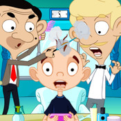 Hair Salon Mr. Bean Version