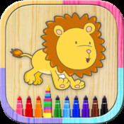 Paint magical animals. Game to paint and color the zoo, farm or domestic animals. Animals coloring book. Games to paint the finger