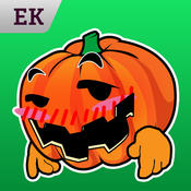 Emoji Kingdom 15 Pumpkin Halloween Emoticon Animated for iOS 8 emoticon sticker