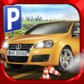 3D Car Parking Simulator - Real City Street Driving School Test Park Sim Racing Games