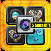 You Apps - 5 programs in 1 - Photo Collage Slideshow Booth Camera and camcorder timer Photo set