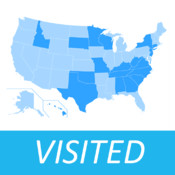 Visited States Map - USA Travel Log