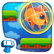 Hamster Roll - Fall Down Platform Game