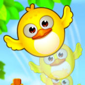 Pretty Bubble Forest Bird: A Yellow Flying Birds Puzzle Games bubble birds