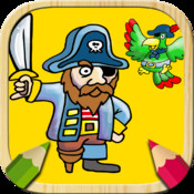 Paint pirates. Fingerpaint game. Coloring book to paint the pirate ship. Paint and color drawings. Never Land Pirates game. Paint for boys and girls