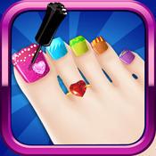Gorgeous Glitter Toe-Nail Art Design : Foot Polish Salon And Pedicure Spa Tutorial FREE free salon design software