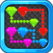 Hot Diamond flow game - Create easy match of addictive diamond jewel puzzles to connect!