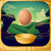 Catch the Eggs-simple and fun chicken bird dropping eggs and catching arcade game. flippin eggs