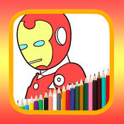 Painting Kids Game iron man Edition