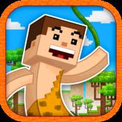 8 Bit Jungle Hero - Jump-y Pixel People Adventure Land Saga pixel people