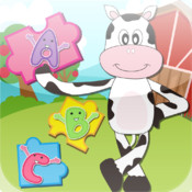 Farm Animal Puzzles - Educational Preschool Learning Games for Kids & Toddlers Free